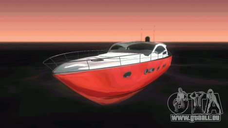 Cartagena Delight Luxury Yacht pour GTA Vice City vue latérale