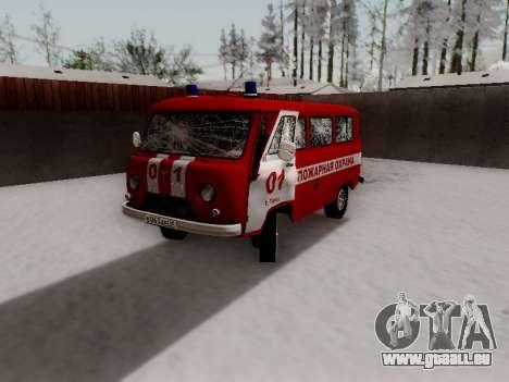 UAZ 452 Fire Staff Penza Russia pour GTA San Andreas salon