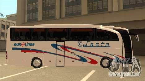 Mercedes-Benz Lasta Bus für GTA San Andreas zurück linke Ansicht