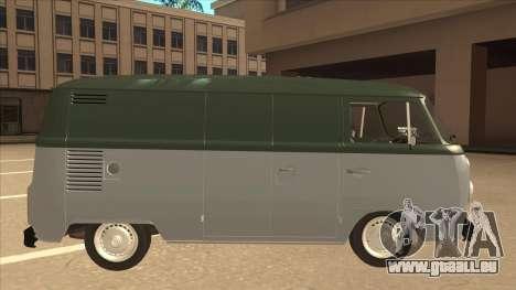 VW T2 Van für GTA San Andreas zurück linke Ansicht