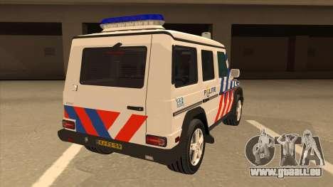 European Emergency Mercedes-Benz G 2008 pour GTA San Andreas vue de droite