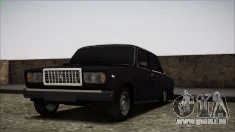 VAZ-2107 für GTA San Andreas obere Ansicht