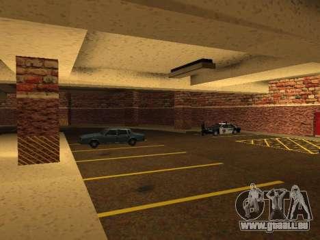 Nouveau garage intérieur police HP pour GTA San Andreas septième écran