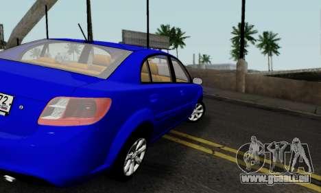 Kia Rio pour GTA San Andreas vue de droite