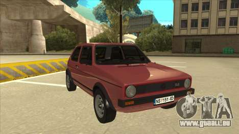 Volkswagen Golf 1 TAS pour GTA San Andreas laissé vue