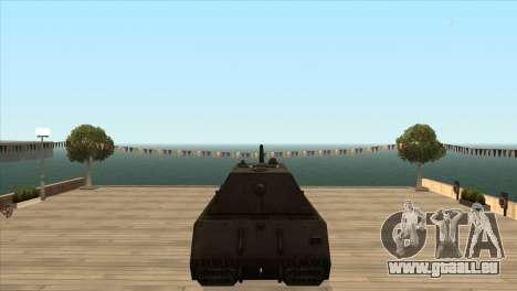 Panzerkampfwagen VIII Maus pour GTA San Andreas quatrième écran