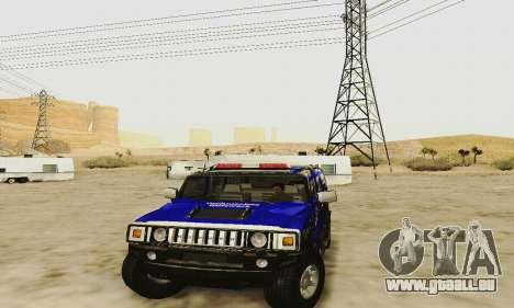 THW Hummer H2 für GTA San Andreas Innenansicht