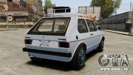 Volkswagen Golf MK1 GTI Rat Style pour GTA 4 Vue arrière de la gauche