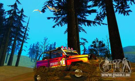 UAZ Hunter Trial pour GTA San Andreas sur la vue arrière gauche