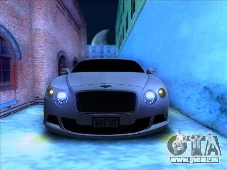 Bentley Continental GT Final 2011 für GTA San Andreas Rückansicht