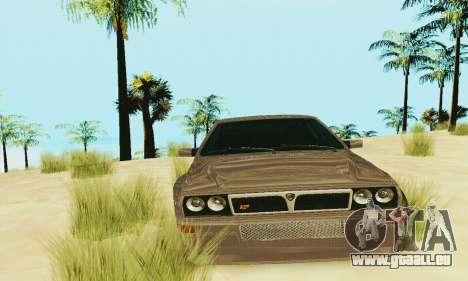 Lancia Delta HF Integrale pour GTA San Andreas vue intérieure