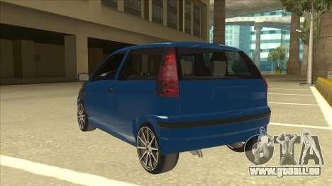 Fiat Punto MK1 Tuning pour GTA San Andreas vue arrière