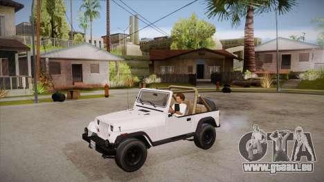 Jeep Wrangler V10 TT Black Revel pour GTA San Andreas vue intérieure