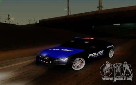 Audi RS5 2011 Police pour GTA San Andreas vue arrière