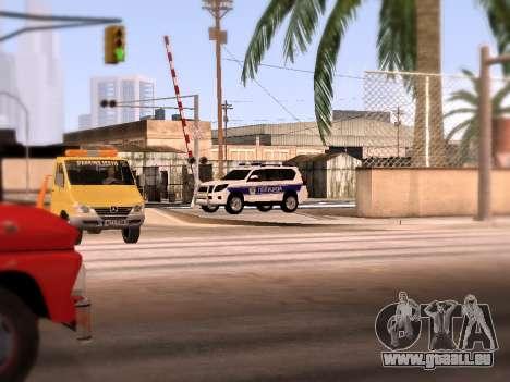 Toyota Land Cruiser POLICE pour GTA San Andreas vue de côté