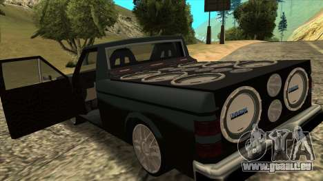 NEW Bobcat für GTA San Andreas zurück linke Ansicht