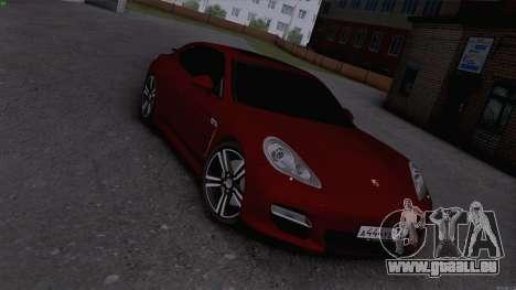 Porsche Panamera für GTA San Andreas zurück linke Ansicht