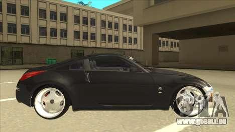 Nissan 350z SimpleDrift pour GTA San Andreas sur la vue arrière gauche