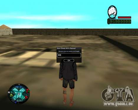 Cleo Gun for SA:MP (dgun) für GTA San Andreas zweiten Screenshot