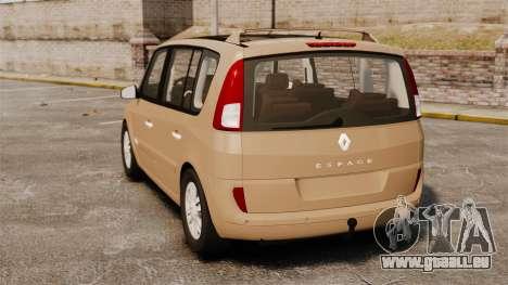 Renault Espace IV Initiale für GTA 4 hinten links Ansicht