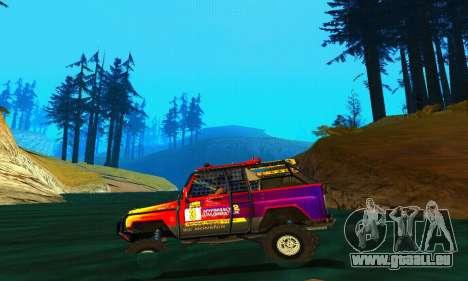 UAZ Hunter Trial pour GTA San Andreas vue intérieure