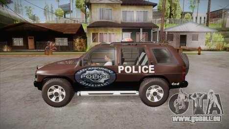 Nissan Terrano RB26DETT Police pour GTA San Andreas laissé vue