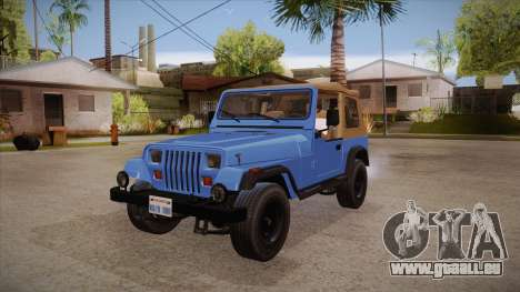 Jeep Wrangler V10 TT Black Revel pour GTA San Andreas