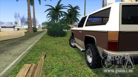 Rancher Bronco pour GTA San Andreas vue de droite