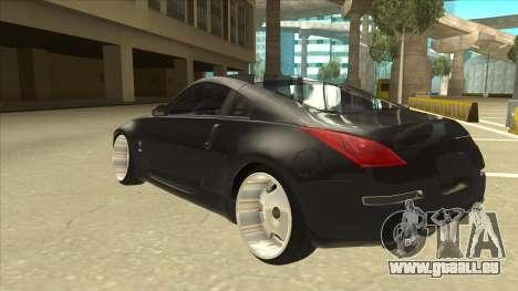 Nissan 350z SimpleDrift pour GTA San Andreas vue arrière