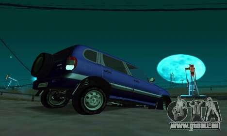 21236 Chevrolet Niva VAZ pour GTA San Andreas sur la vue arrière gauche
