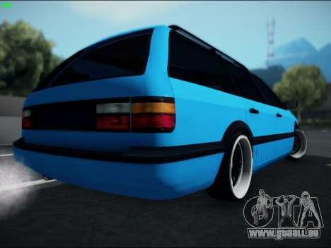 Volkswagen Passat Caravan 1993 Avant Style für GTA San Andreas zurück linke Ansicht
