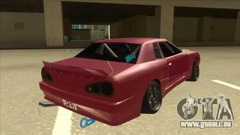 Elegy Drift pour GTA San Andreas vue de droite