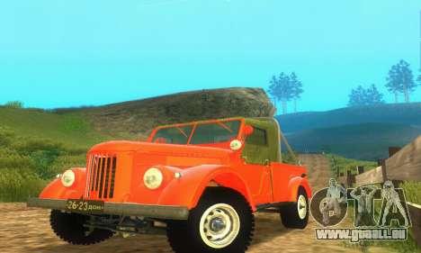 GAZ 69 Pickup pour GTA San Andreas laissé vue