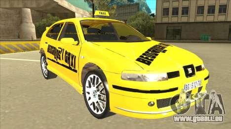 Seat Leon Belgrade Taxi pour GTA San Andreas laissé vue