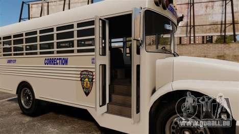 Der Gefängnis-Bus Liberty City für GTA 4 Rückansicht