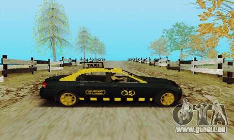 Mercenaries 2-Taxi für GTA San Andreas Rückansicht