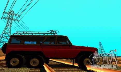 UAZ 31514 6 x 6 pour GTA San Andreas laissé vue