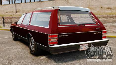 Chevrolet Caprice Wagon 1989 pour GTA 4 Vue arrière de la gauche