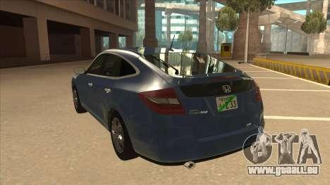 Honda Crosstour 2012 für GTA San Andreas Rückansicht