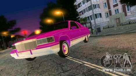 Cadillac Fleetwood Coupe pour GTA Vice City vue arrière