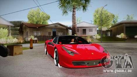 Ferrari 458 Italia Novitec Rosso 2012 v2.0 pour GTA San Andreas