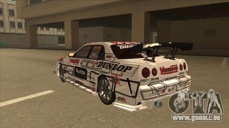 Nissan Skyline ER34 Uras GT Blitz 2009 pour GTA San Andreas vue arrière