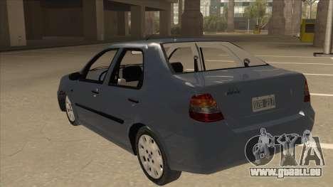 Fiat Siena Ex pour GTA San Andreas vue arrière