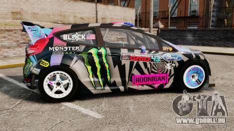 Ford Fiesta Gymkhana 6 Ken Block [Hoonigan] 2013 für GTA 4 linke Ansicht