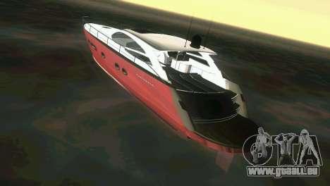 Cartagena Delight Luxury Yacht für GTA Vice City rechten Ansicht