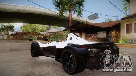 BAC Mono 2011 pour GTA San Andreas sur la vue arrière gauche