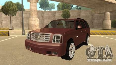 Cadillac Escalade 2002 pour GTA San Andreas