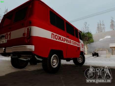 UAZ 452 Fire Staff Penza Russia pour GTA San Andreas vue de droite