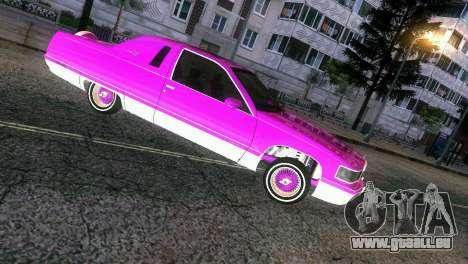 Cadillac Fleetwood Coupe pour GTA Vice City sur la vue arrière gauche