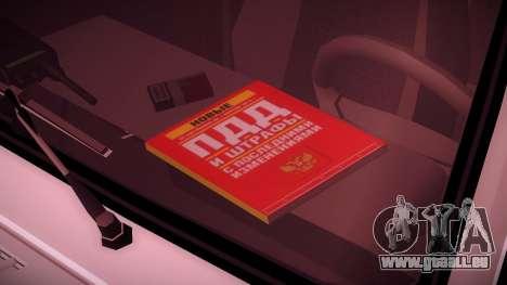 VAZ 2107 Polizei DPS für GTA San Andreas Rückansicht